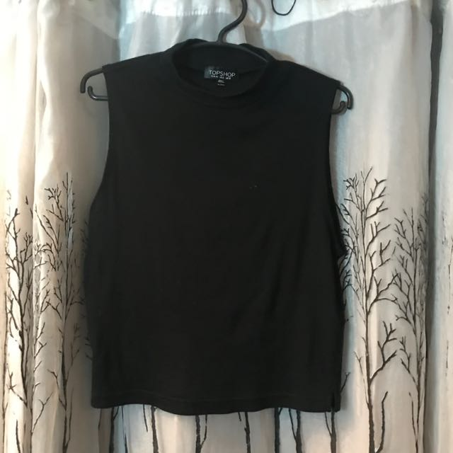 Topshop X Lycra Ribbed Funnel Top