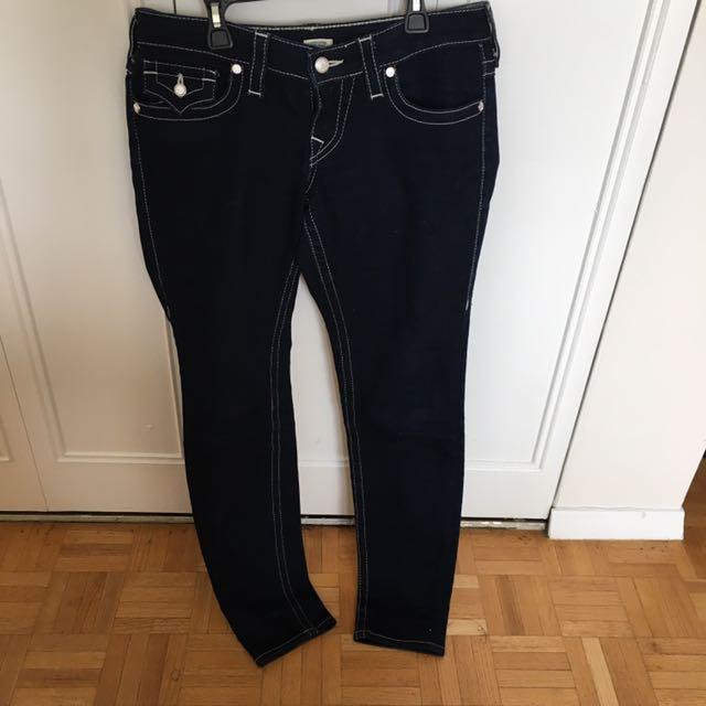 True Religion Size 29 Boot Cut Dark Denim Jeans