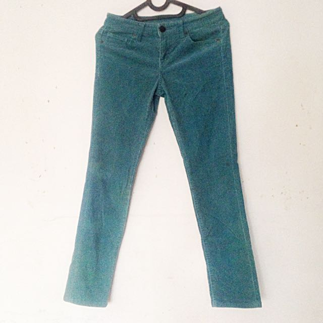 UNIQLO Green Jeans