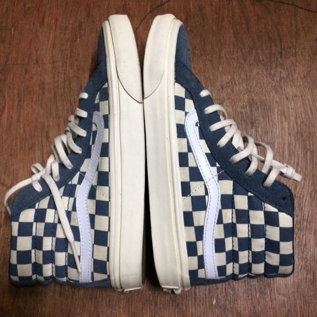Vans Sk8 Hi Slim Blue Checkerboard