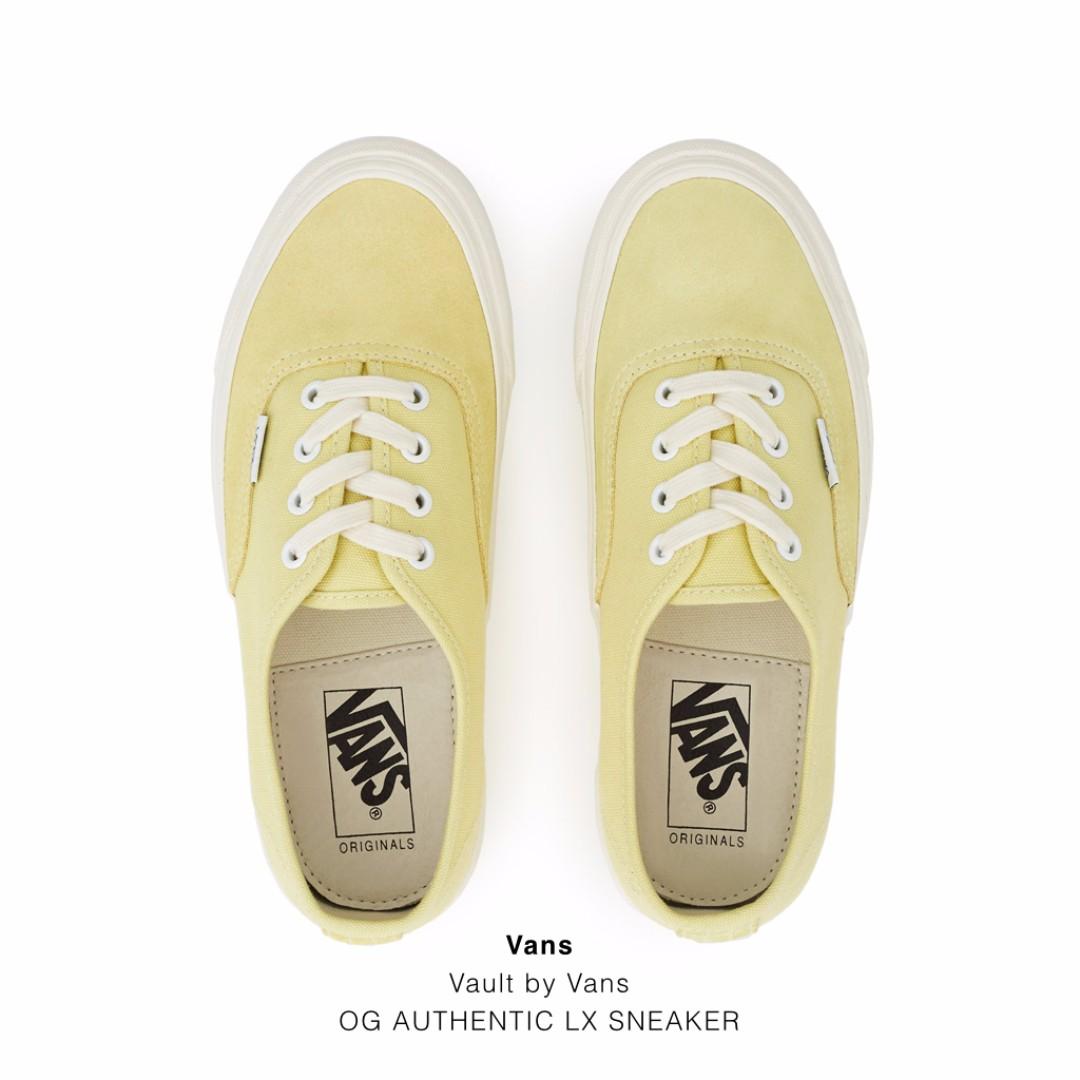 Vans Vault by Vans OG AUTHENTIC LX SNEAKER 春夏新款 全三色 OG系列 粉黃