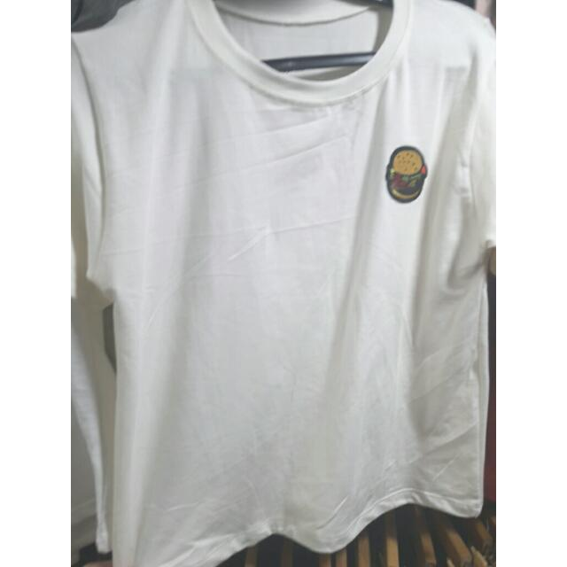 White Shirt With Patch