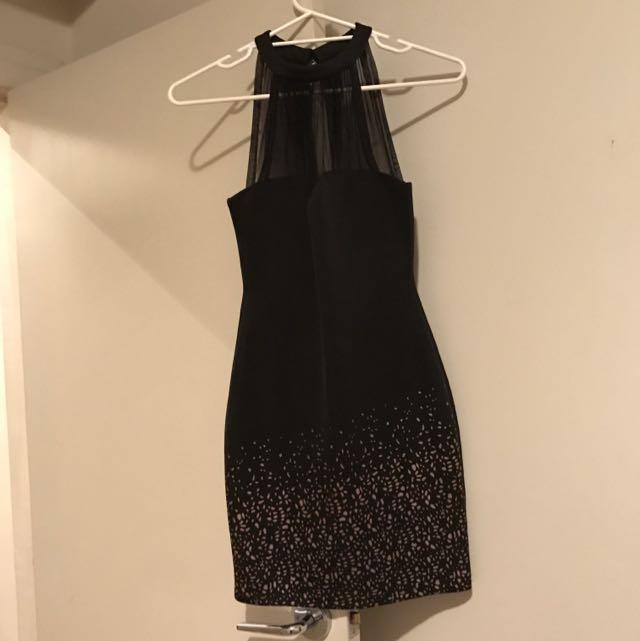 Woman's Dress Black Cocktail Style