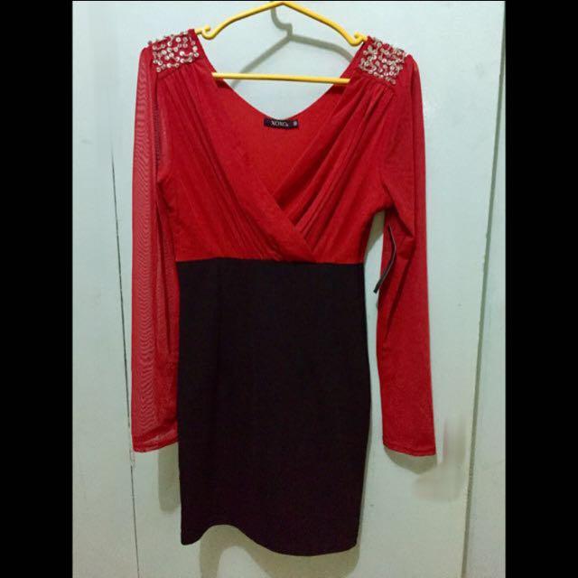XOXO Sexy Red & Black Dress