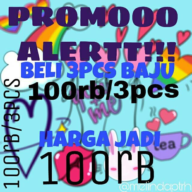 YUHUUU PROMOPROMOO 3pcs/100rb + Fre Ongkir!!