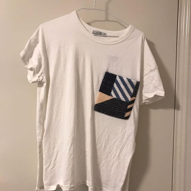 Zara Tshirt with Pocket