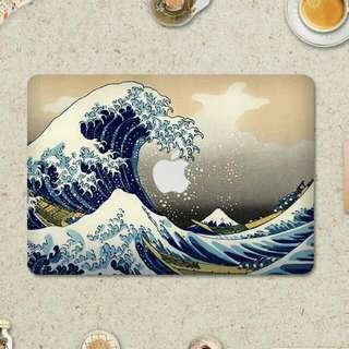 浮世繪海浪MacBook 貼
