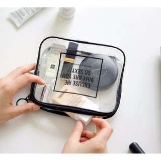 簡約時尚透明立體化妝包 洗漱包 藥包 旅行收納包 手拿包 小物收納包(二種尺寸)#b116