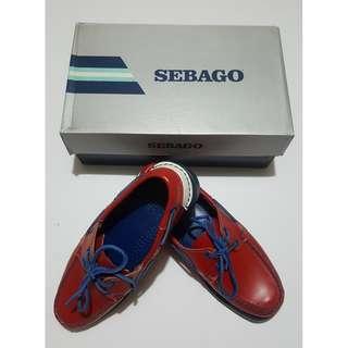 Sebago Dockside Red/Blue Boatshoes