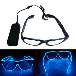Kacamata DJ Glow LED