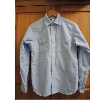 tellason Topper Shirt Japanese 純棉 復古 藍 布邊 襯衫 XS 日本 Denim