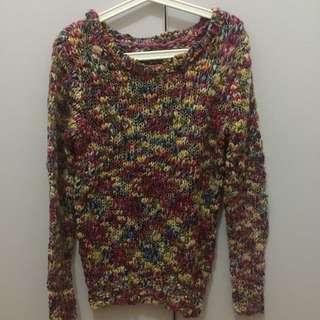 Preloved Sweater Rajut Colorful