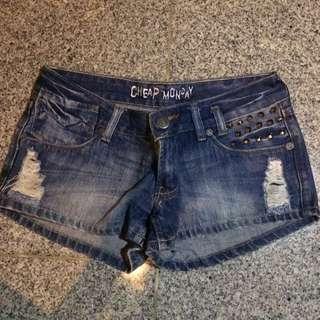 Studded Short Jeans