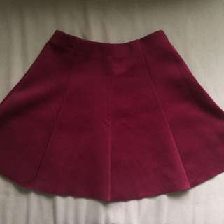 burgundy skirt (size small)