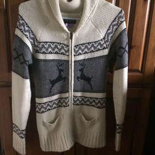 long cozy sweater (size small)