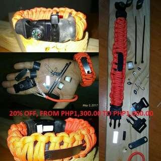 SALE! SALE! Paracord Survival Bracelet