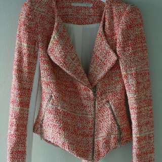WILLOW Women's Sunset Weave Tweed Jacket Size 6