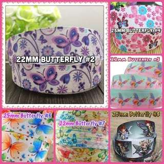 25mm Butterfly Ribbons DIY Supplies