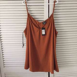 Plus Size City Chic Cami Top - Tan?