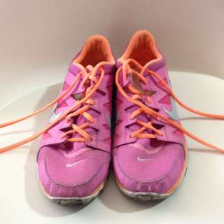 Pink And Orange Nike Shoes