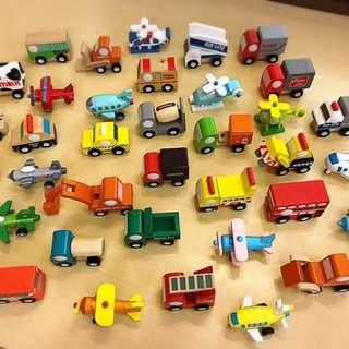 木質小汽車及小飛機
