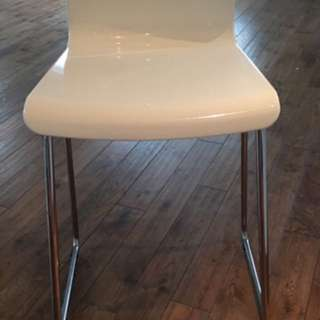 Set Of 2 White Acrylic Bar Stools