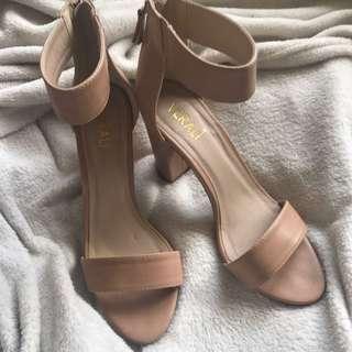 Nude Strap High Heels