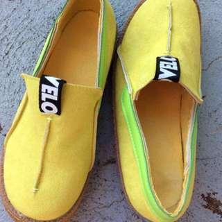 Vegan Slip On Yellow Shoes