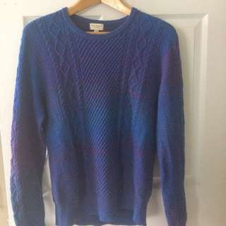 Club Monaco Sweater In Blue And Purple