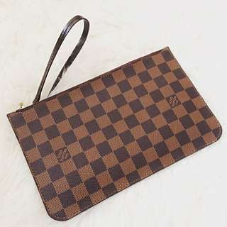 LOUIS VUITTON Damier Ebene Neverfull Pochette Purse Clutch