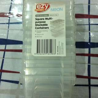 New Pack Of 8 300ml EZY Container Stackable Storage