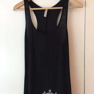 Size Small. Long Black Cotton Dress