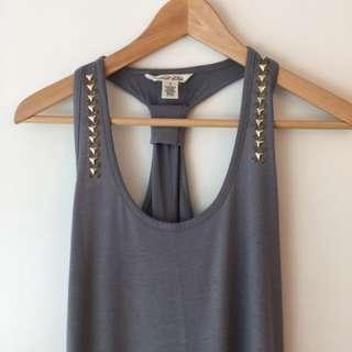 Size Small. Long Grey Cotton Dress