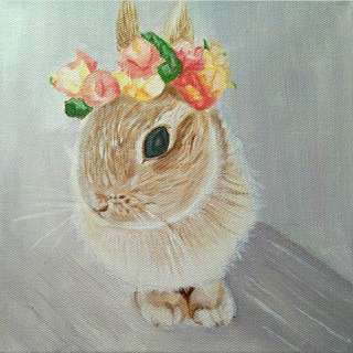 "Bunny Painting ""Inner Bloom"""