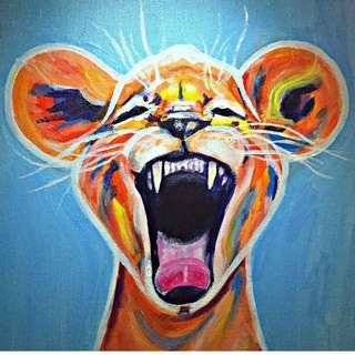 "Lion Cub Painting ""Forever Young"""