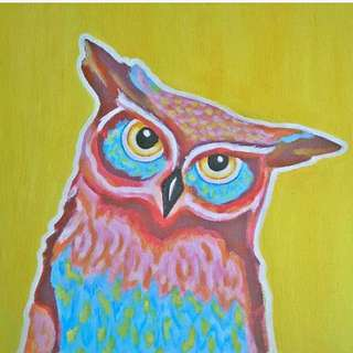 "Owl Painting ""Wise One"""