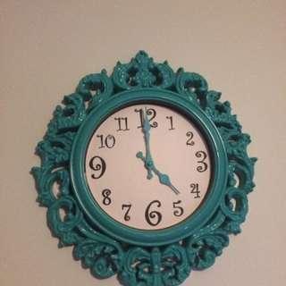 Teal Clock