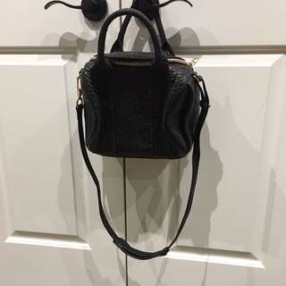 Alexander Wang Purse Rose Gold And Black Lamb Skin