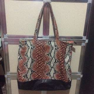 Snakeskin Soft Leather Bag