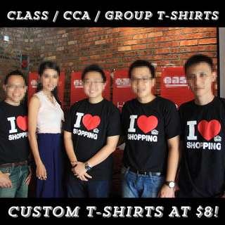 🎀🎀Customized Class Tees printing - FREE DESIGN! (Uniform/ CCA tees/ Club tees)