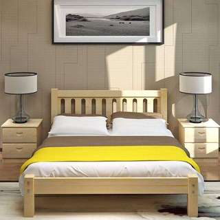 IKEA Japanese Style Solid Wood Queen / King Size Bed Frame