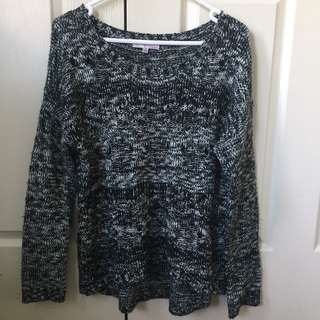 Temt Black And White Speck Jumper