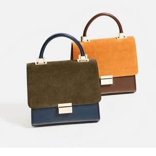 Zara original mini city split suede import