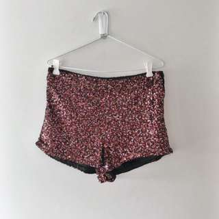 💖✨ SPARKLY PINK BOOTY SHORTS ✨💖