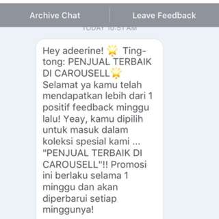 Thankyou Carousell For This Appreciate 💕💕