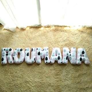 Customize Alphabet Pillow (ROUMANA)