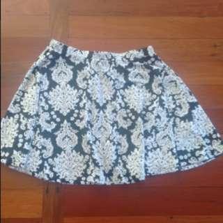 Tally Wejel floral print mini skirt
