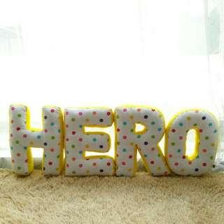 Customize Alphabet Pillow (HERO)