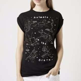 Tee & Cake animals in the stars T-shirt