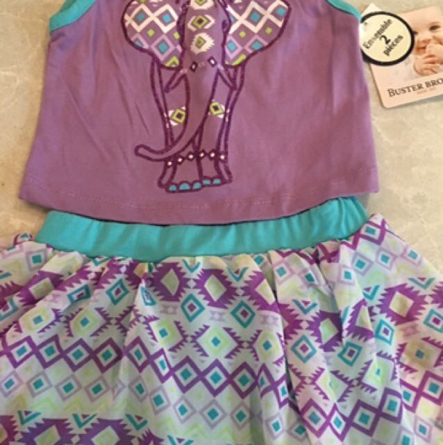 12 Mos Brand New 2 Piece Outfit